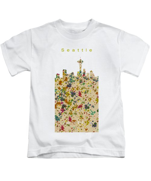 Seattle Skyline.2 Kids T-Shirt by Alberto RuiZ
