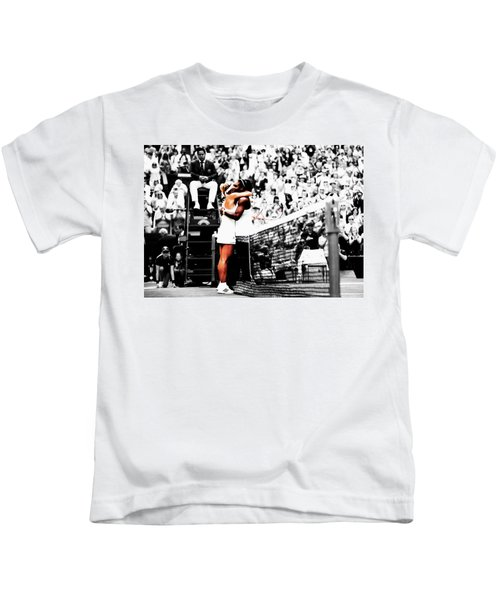 Serena Williams And Angelique Kerber 1a Kids T-Shirt by Brian Reaves