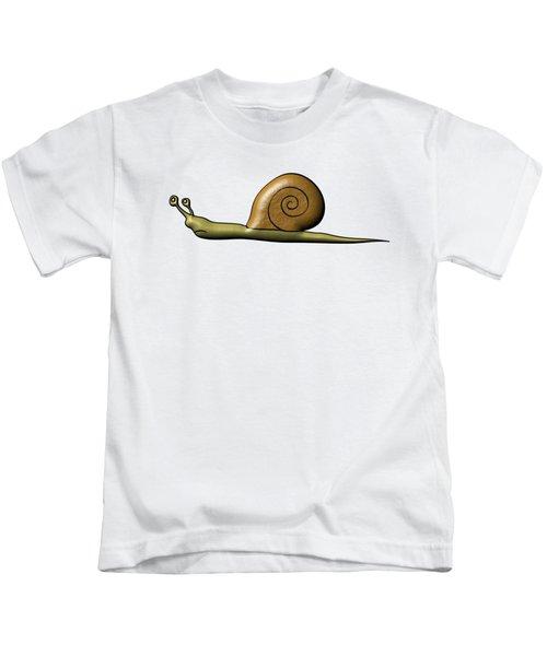 Snail Kids T-Shirt by Michal Boubin