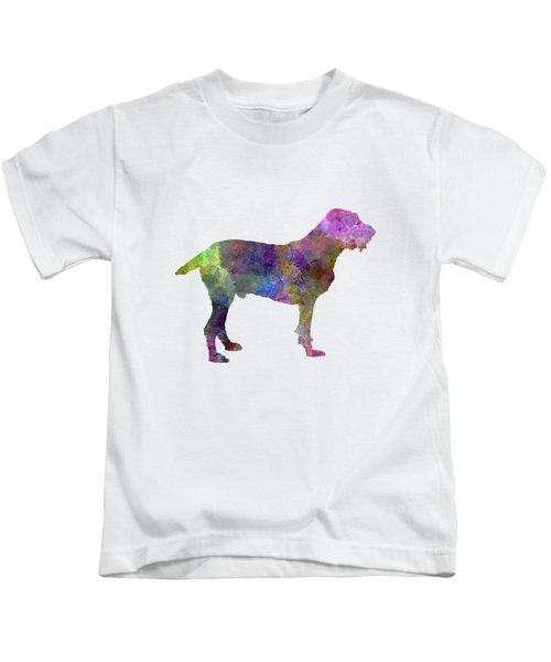 Spinone In Watercolor Kids T-Shirt by Pablo Romero