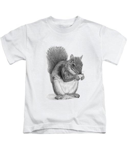 Squirrel #2 Kids T-Shirt by Rita Palmer