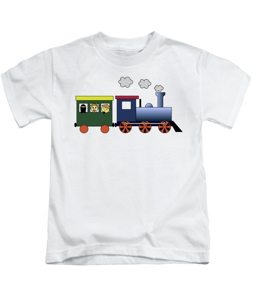 Steam Train Kids T-Shirt by Miroslav Nemecek