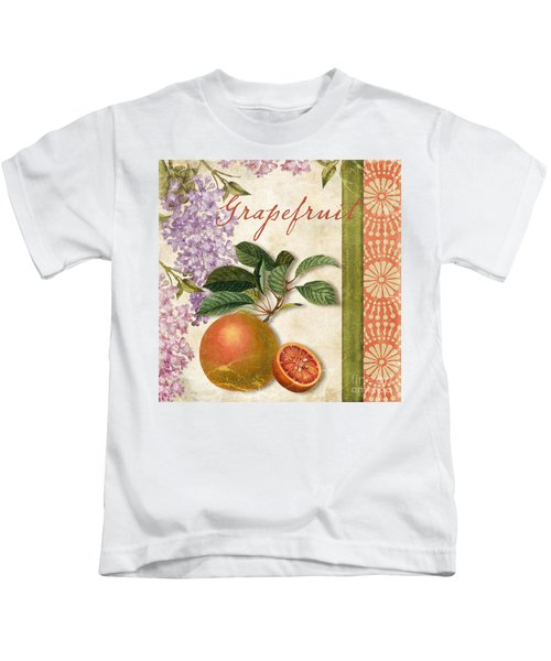Summer Citrus Grapefruit Kids T-Shirt by Mindy Sommers