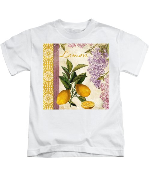 Summer Citrus Lemon Kids T-Shirt by Mindy Sommers