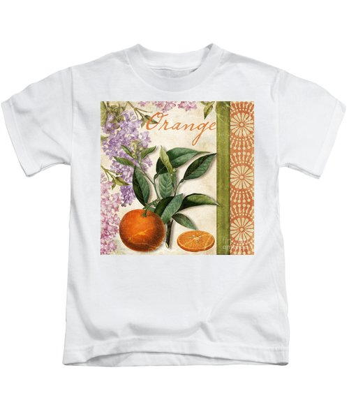 Summer Citrus Orange Kids T-Shirt by Mindy Sommers