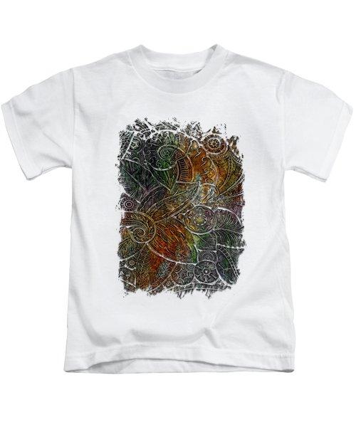 Swan Dance Muted Rainbow 3 Dimensional Kids T-Shirt by Di Designs