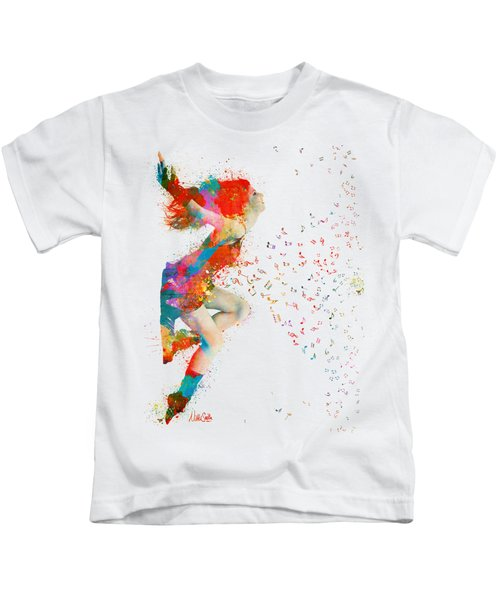 Sweet Jenny Bursting With Music Kids T-Shirt by Nikki Smith