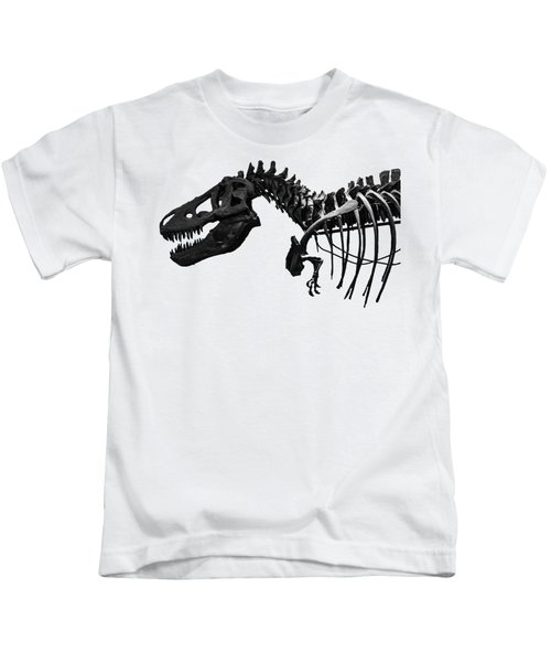 T-rex Kids T-Shirt by Martin Newman