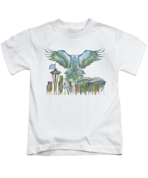 The Blue And Green Overlay Kids T-Shirt by Julie Senf