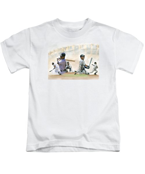 The Captains II Don Mattingly And Derek Jeter Kids T-Shirt by Iconic Images Art Gallery David Pucciarelli