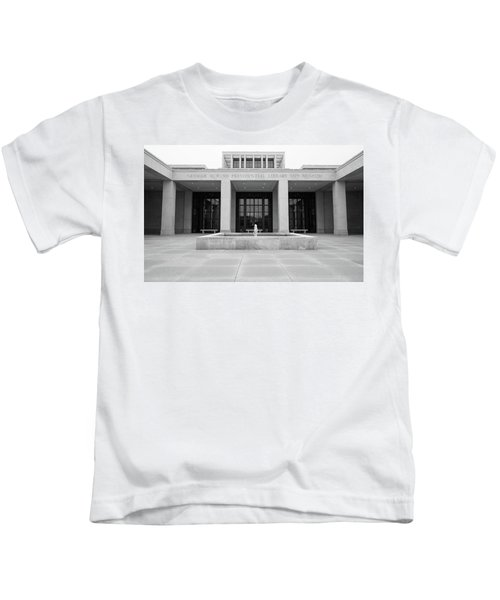 The George W. Bush Presidential Library And Museum  Kids T-Shirt by Robert Bellomy