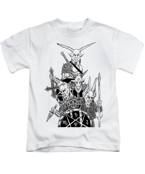 The Infernal Army White Version Kids T-Shirt by Alaric Barca