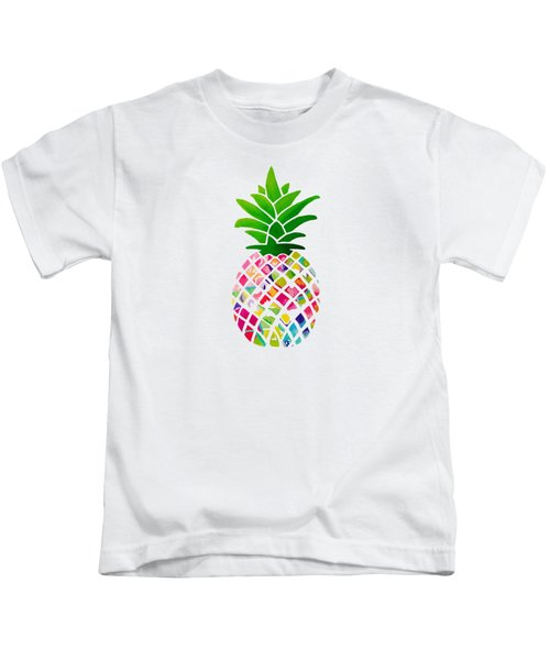 The Pineapple Kids T-Shirt by Maddie Koerber