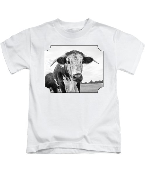 This Is My Field - Black And White Kids T-Shirt by Gill Billington