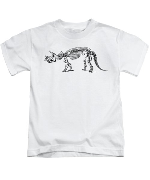 Triceratops Dinosaur Tee Kids T-Shirt by Edward Fielding