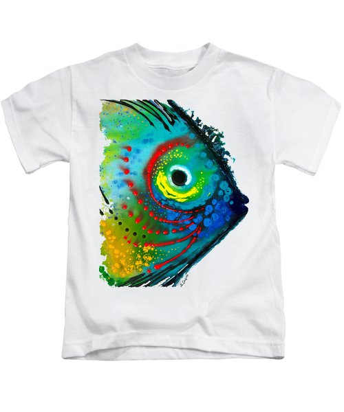 Tropical Fish - Art By Sharon Cummings Kids T-Shirt by Sharon Cummings