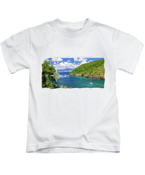 Tropical Lagoon Kids T-Shirt by Konstantin Sevostyanov