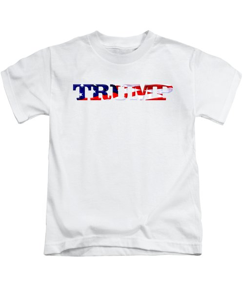 Trump - Fort Mchenry Flag Overlay Kids T-Shirt by William Bartholomew