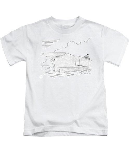 U.s.s. Deja Vu Kids T-Shirt by Mick Stevens