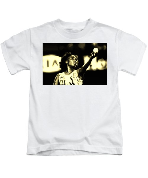 Venus Williams Match Point Kids T-Shirt by Brian Reaves