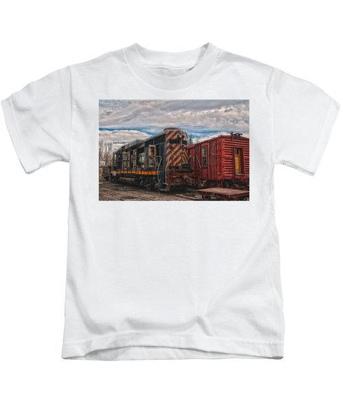 Waiting For Work Kids T-Shirt by Michael Connor