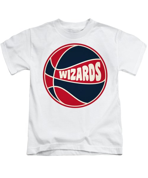 Washington Wizards Retro Shirt Kids T-Shirt by Joe Hamilton
