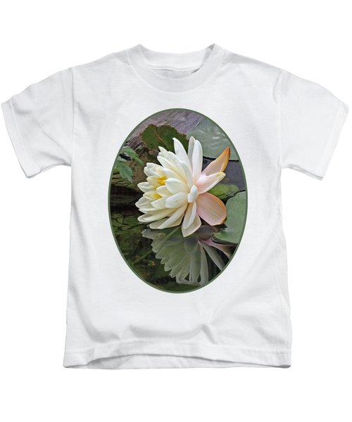 Water Lily Reflections Kids T-Shirt by Gill Billington