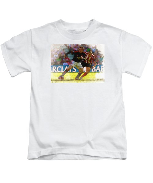 Wayne Rooney Is Marshalled Kids T-Shirt by Don Kuing
