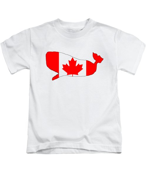 Whale Canada Kids T-Shirt by Mordax Furittus