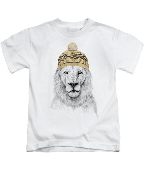 Winter Is Coming Kids T-Shirt by Balazs Solti