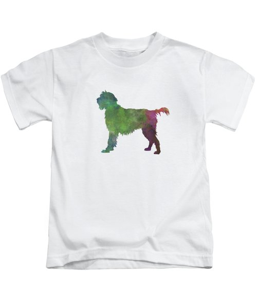Wirehaired Pointing Griffon Korthals In Watercolor Kids T-Shirt by Pablo Romero