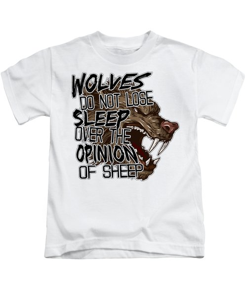 Wolves And Sheep Kids T-Shirt by Michelle Murphy