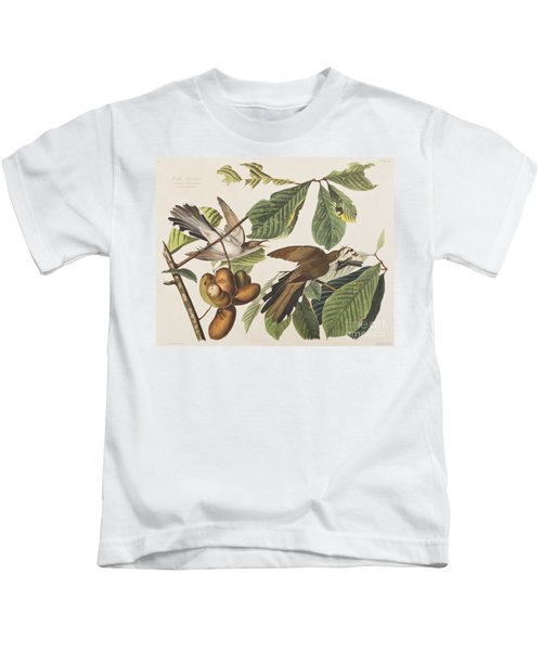 Yellow Billed Cuckoo Kids T-Shirt by John James Audubon