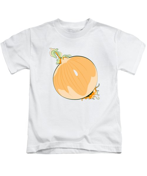 Yellow Onion Kids T-Shirt by MM Anderson