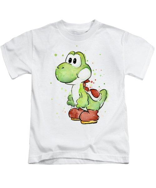 Yoshi Watercolor Kids T-Shirt by Olga Shvartsur