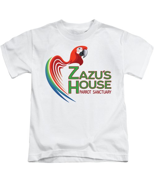Zazu's House Parrot Sanctuary Kids T-Shirt by Zazu's House Parrot Sanctuary
