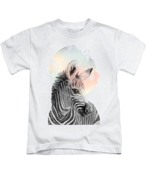 Zebra // Dreaming Kids T-Shirt by Amy Hamilton