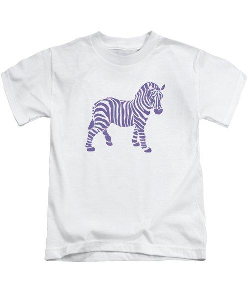 Zebra Stripes Pattern Kids T-Shirt by Christina Rollo