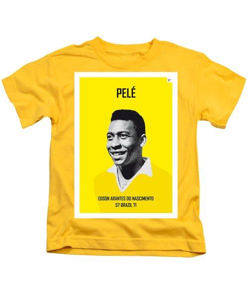My Pele Soccer Legend Poster Kids T-Shirt by Chungkong Art