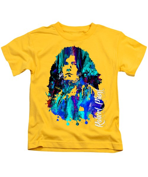 Robert Plant Collection Kids T-Shirt by Marvin Blaine