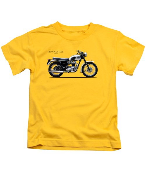 Triumph Bonneville 1963 Kids T-Shirt by Mark Rogan