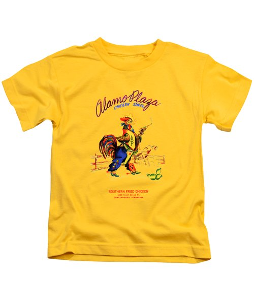 Alamo Plaza Tennessee 1950s Kids T-Shirt by Mark Rogan