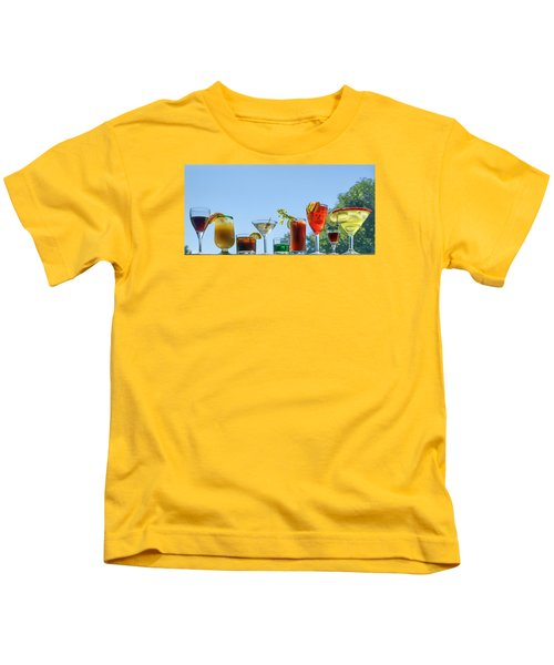 Alcoholic Beverages - Outdoor Bar Kids T-Shirt by Nikolyn McDonald