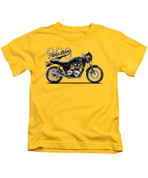Triumph Thruxton Kids T-Shirt by Mark Rogan