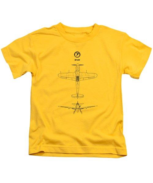 Messerschmitt Bf 109 Kids T-Shirt by Mark Rogan