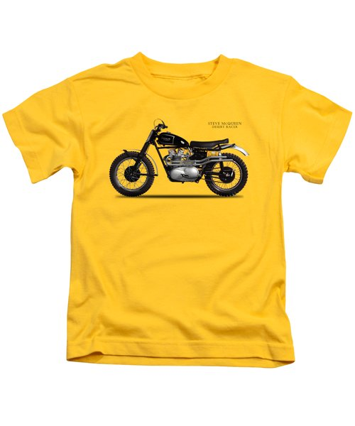 The Steve Mcqueen Desert Racer Kids T-Shirt by Mark Rogan