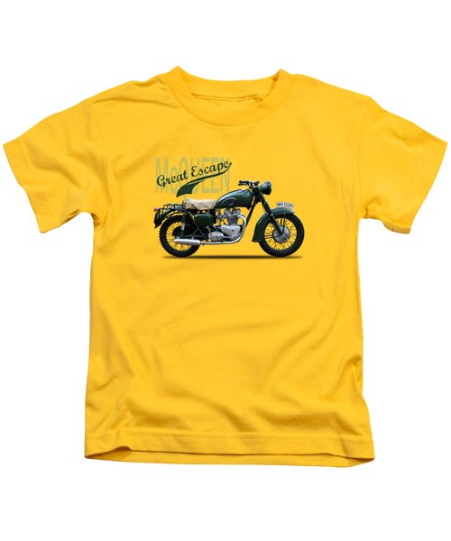 The Great Escape Motorcycle Kids T-Shirt by Mark Rogan