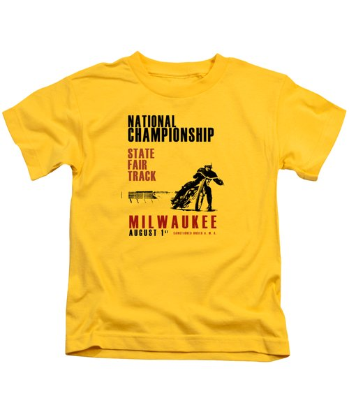 National Championship Milwaukee Kids T-Shirt by Mark Rogan