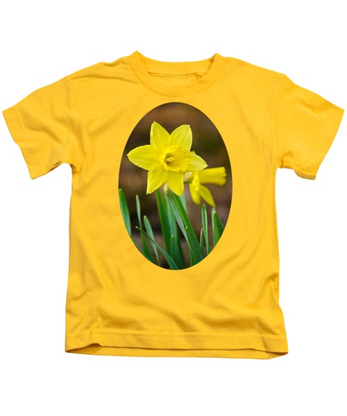 Beautiful Daffodil Flower Kids T-Shirt by Christina Rollo