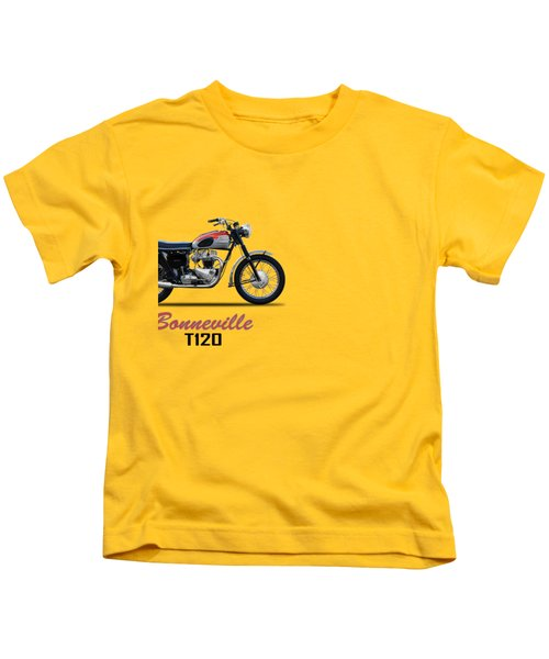 Bonneville T120 1962 Kids T-Shirt by Mark Rogan